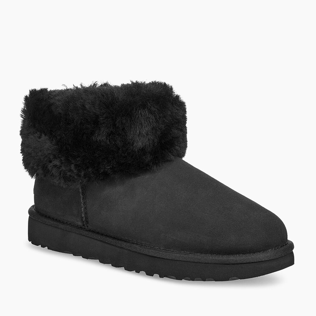 Classic Mini Fluff Boot Black